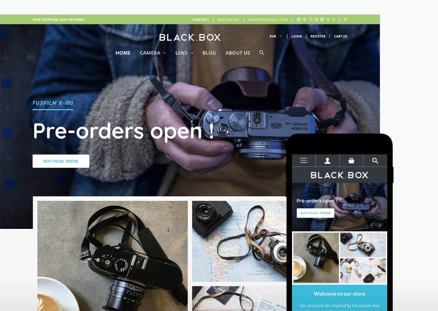 Electronic and gadgets - Black Box - Online Shop Style
