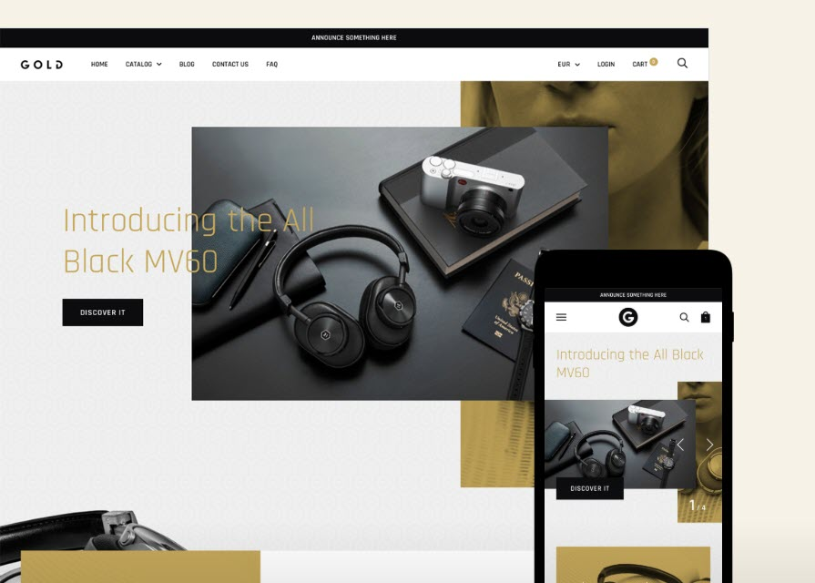 Electronic and gadgets - Gold - Online Shop Style