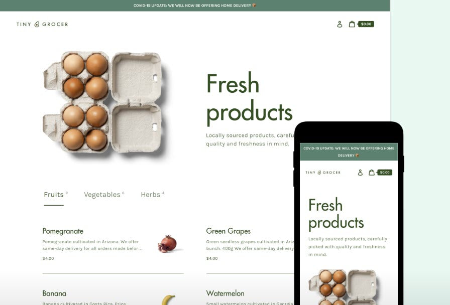 Food and Drink - Fresh Products - Online Shop Style