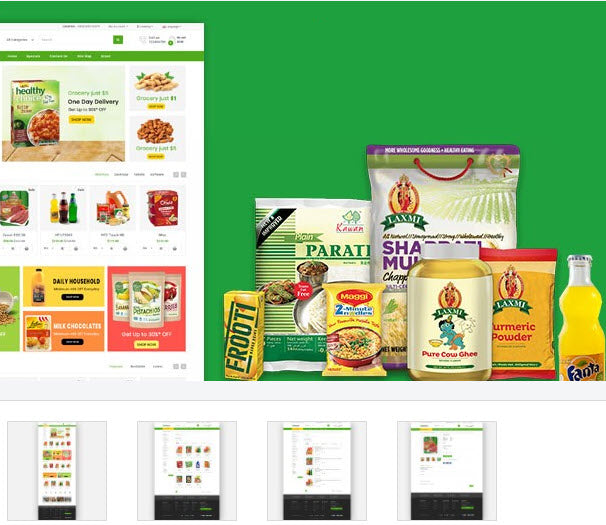 Grocery and Supermarket - Online Shop Style