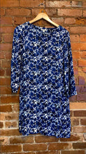 Load image into Gallery viewer, Women's J. Crew Mercantile Blue Floral Shift Dress Size S