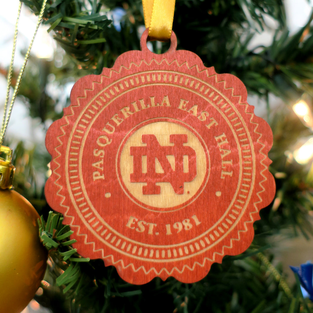 Pasquerilla East Hall Christmas Ornament