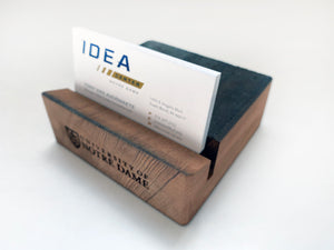 ND Stadium Bench Wood Business Card Holder