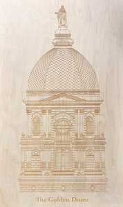 ND Golden Dome Laser Print, Large (2.5 ft Tall)