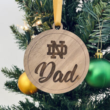 Load image into Gallery viewer, ND Mom & Dad Christmas Ornament Set