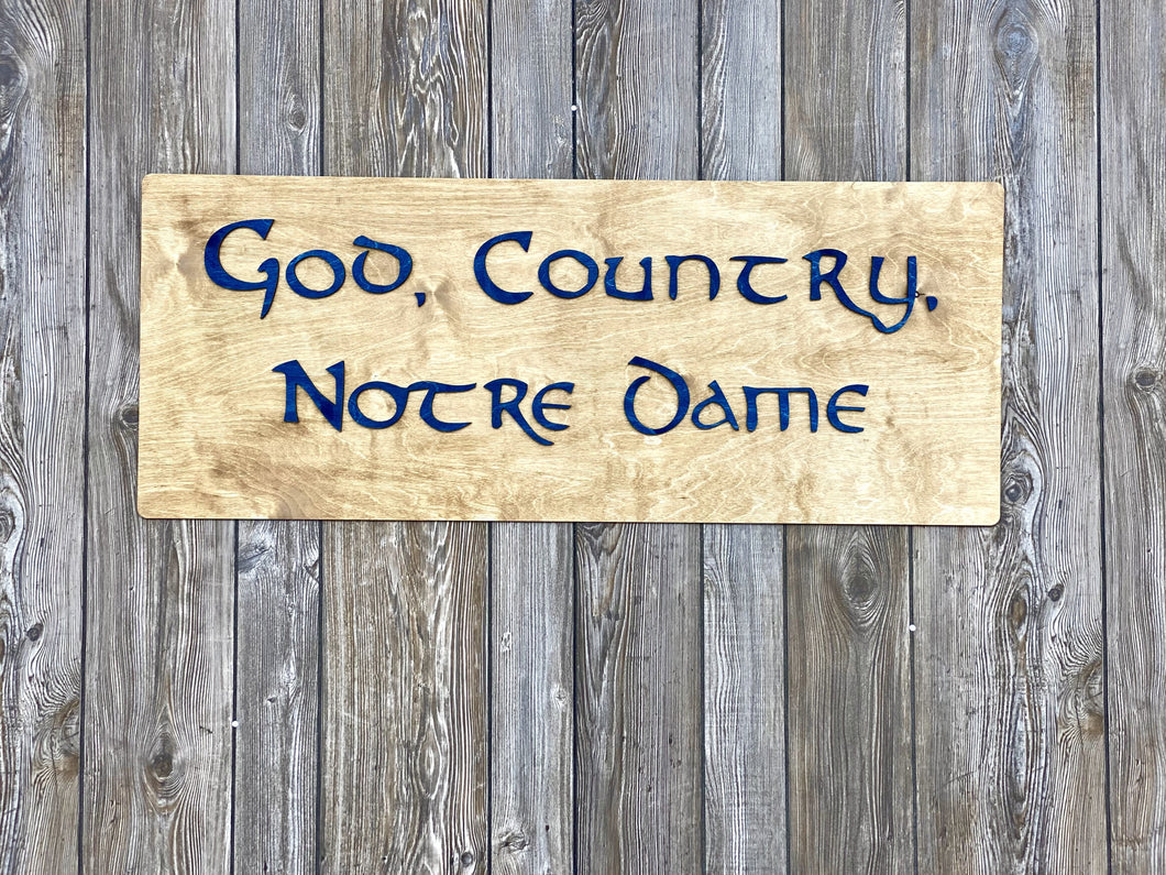 God, Country, Notre Dame Wall Art