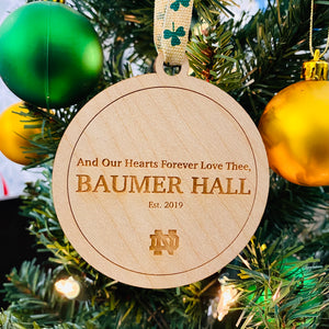 Baumer Hall Christmas Ornament