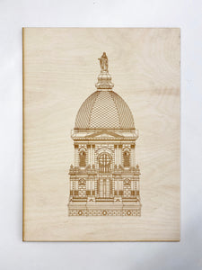 ND Golden Dome Laser Print - (8 x 10)
