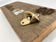 Load image into Gallery viewer, ND Stadium Bench Wood Bottle Opener