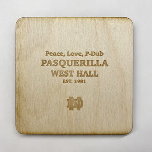 Pasquerilla West Hall Coaster Set