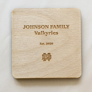 Johnson Family Hall Coaster Set