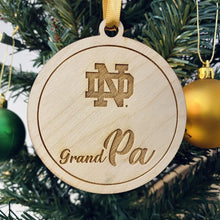 Load image into Gallery viewer, ND Grand Ma & Grand Pa Christmas Ornament Set