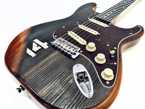 """Rock With Rock"" - Stadium Bench Wood Electric Guitar"