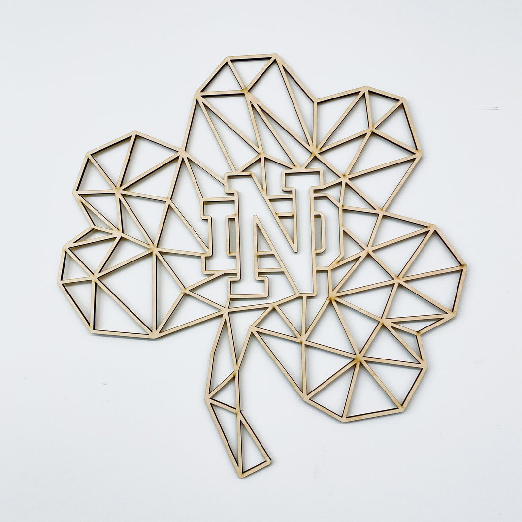 Geometric ND Shamrock Wall Art