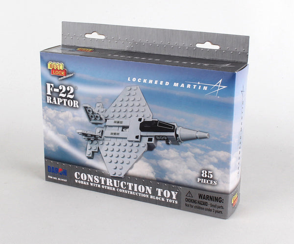 BL14187 F-22 RAPTOR 85 PIECE CONSTRUCTION TOY