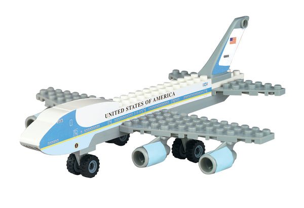 BL222 AIR FORCE ONE 55 PIECE CONSTRUCTION TOY