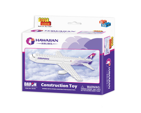 BL483 HAWAIIAN AIRLINES 55 PIECE CONSTRUCTION TOY