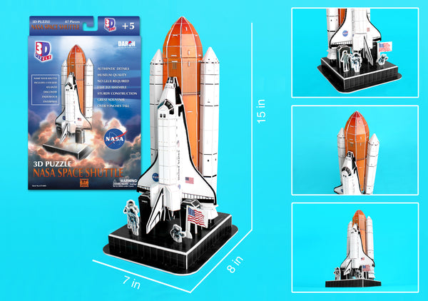 CF140H SPACE SHUTTLE 3D PUZZLE ON LAUNCH PAD 87 PIECES