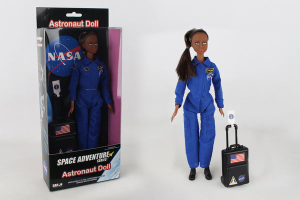 DA500-1B ASTRONAUT DOLL IN BLUE SUIT IN BOX AFRICAN AMERICAN