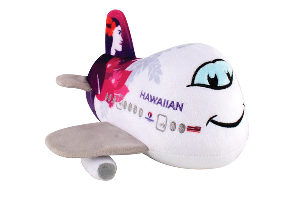 MT026-1 HAWAIIAN AIRLINES PLUSH AIRPLANE W/SOUND NEW LIVERY