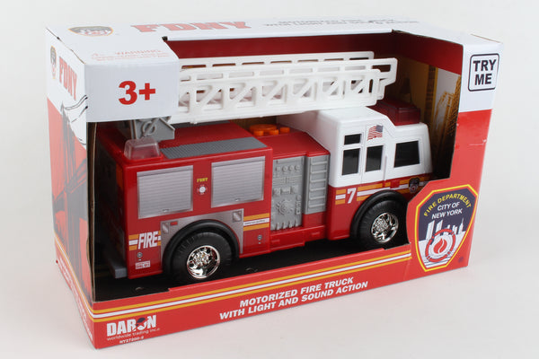 NY27200-2 FDNY MOTORIZED LADDER TRUCK WITH LIGHTS & SOUND