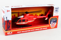 NY9039 FDNY FIRE HELICOPTER W/LIGHTS & SOUND