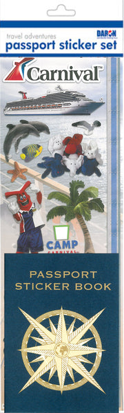 CARNIVAL PASSPORT STICKER SET PP550002