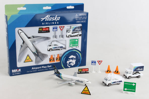 RT3991-1 ALASKA AIRLINES AIRPORT PLAY SET NEW LIVERY