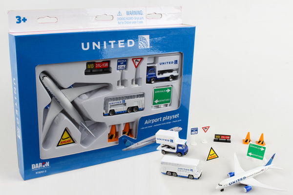 RT6261-2 UNITED AIRLINES PLAYSET 2019 LIVERY
