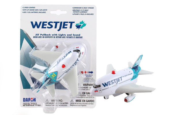 TT164-1 WESTJET PULLBACK W/LIGHT & SOUND NEW LIVERY