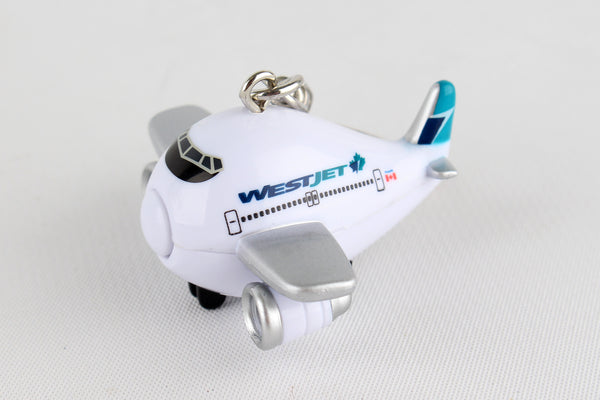 TT88244-1 WESTJET AIRPLANE KEYCHAIN W/LIGHT & SOUND