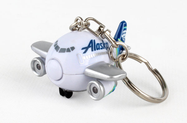 TT88445-1 ALASKA AIRLINE KEYCHAIN W/LIGHT & SOUND NEW LIVERY