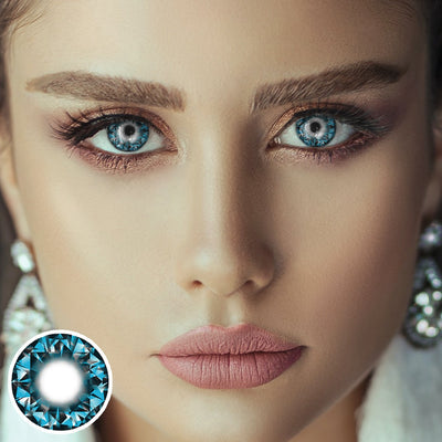 Shiny Blue Diamond Contact Lenses