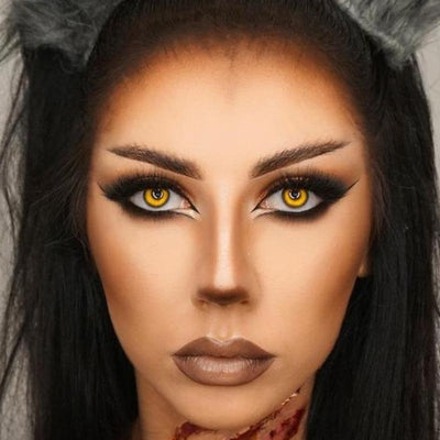 Halloween yellow (12 months) cosmetic contact lenses