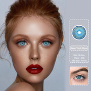 New York blue (12 months) contact lenses