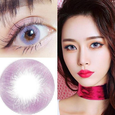 Crystal Violet (12 months) contact lenses