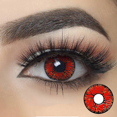 Cosplay Red Colored Contact Lenses