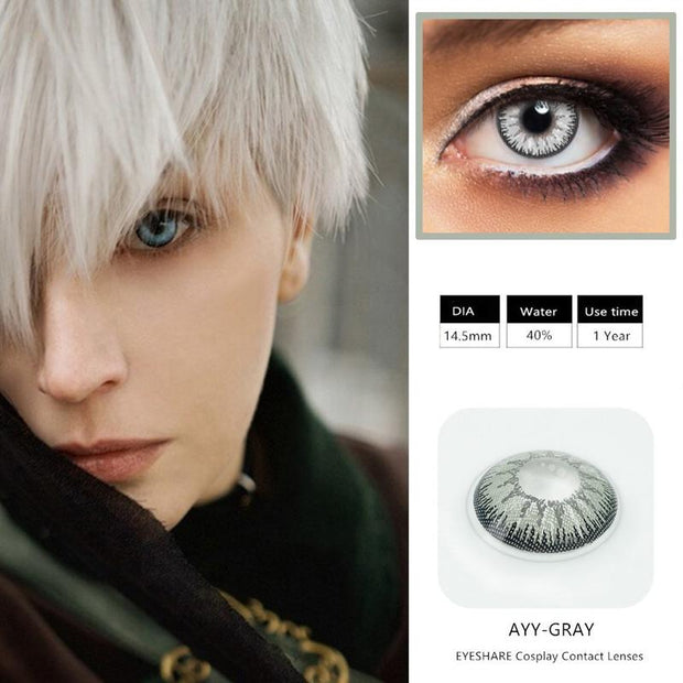 Halloween dark gray (12 months) cosmetic contact lenses
