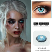 Halloween cos blue eyes cosmetic contact lenses