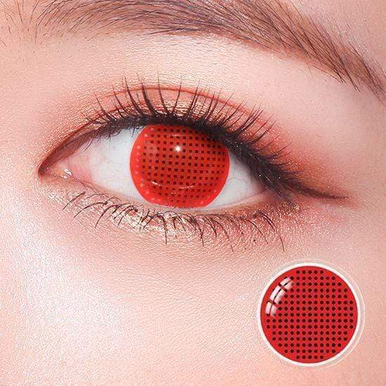 Red Screen Round Mesh Colored Contact Lenses