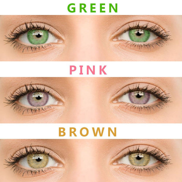 2pcs/Pair Sweet Cosmetic Colored Contact Lenses