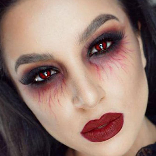 cosplay blood red (12 months) contact lenses