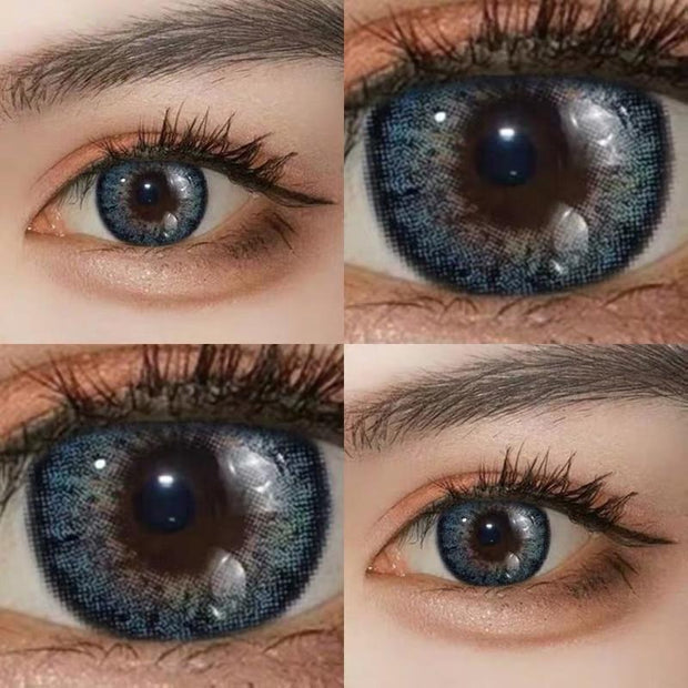 Star blue (12 months) cosmetic contact lenses
