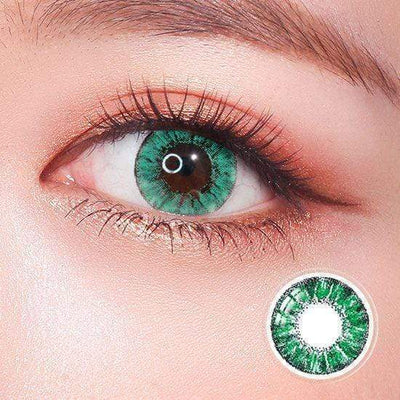 Super Crystal Glitter Green Colored Contact Lenses