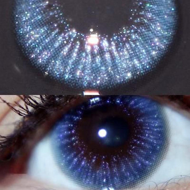 Natural starry sky blue (12 months) contact lenses