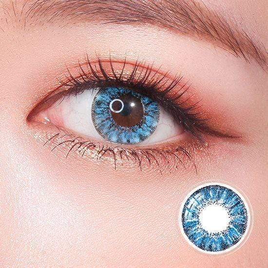 Super Crystal Glitter Blue Colored Contact Lenses
