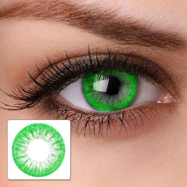 cosplay flower fire bright green (12 months) contact lenses