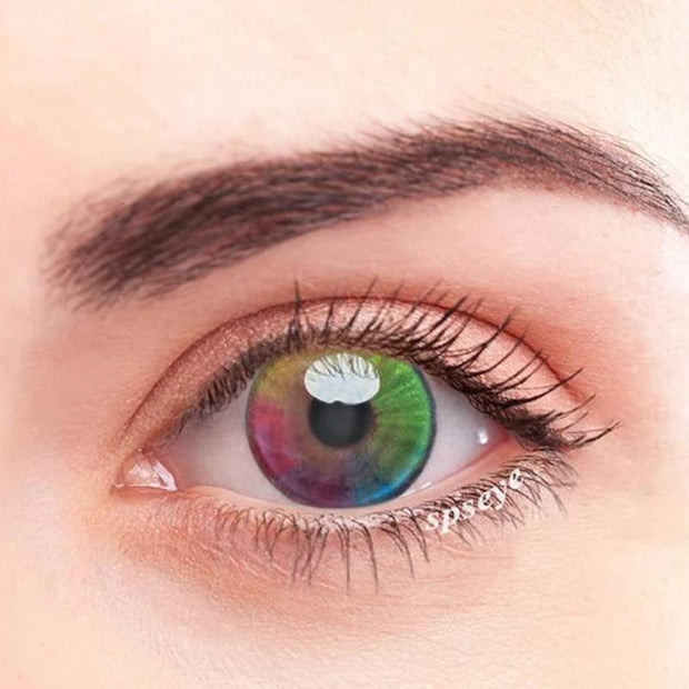 natural rainbow tri-color (12 months) contact lenses