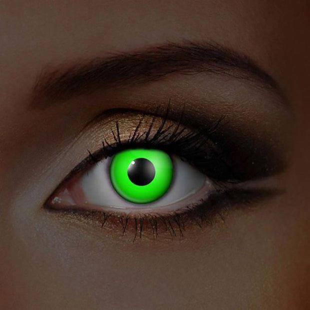 cosplay fluorescent green (12 months) contact lenses - ilabar