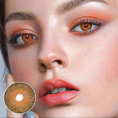 New York Brown Summer Party Contact Lenses